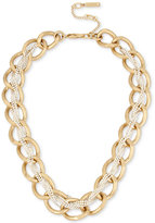 Kenneth Cole New York Kenneth Cole Two-Tone Crystal-Braided Chain Necklace