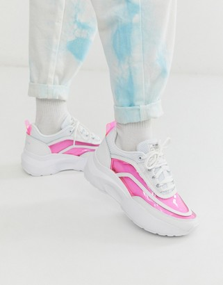 Sixty Seven Sixtyseven colour block chunky sneaker in white