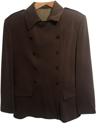 Allegri Brown Cotton Jacket for Women Vintage