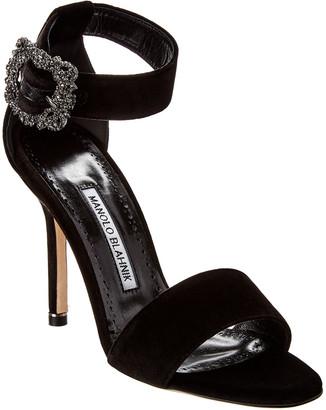Manolo Blahnik Sanghal 105 Velvet Sandal