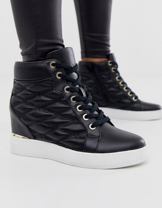 Aldo Afiravia wedge sneaker in black