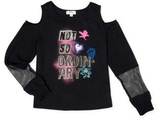 Descendants Girls Cold Shoulder Fleece Pullover T-Shirt, Sizes 6-16