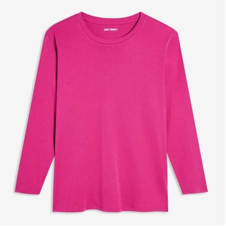 Joe Fresh Women+ Essential Long Sleeve Tee, Blue (Size 2X)