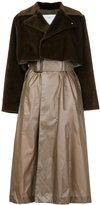 Toga Pulla contrast material coat