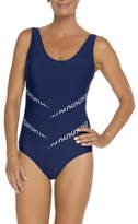 Togs Navy Ripple Splice One Piece