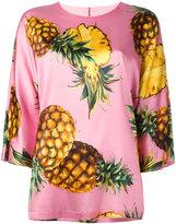 Dolce & Gabbana Pineapple print T-shirt - women - Silk/Spandex/Elastane - 46
