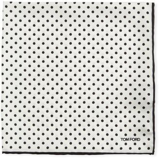 Tom Ford Polka Dot Silk Pocket Square