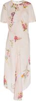 Preen Line Shae Ruched Floral-Print Crepe Midi Dress