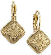 2028 Gold-Tone Filigree Pattern Drop Earrings, Only at Macy's