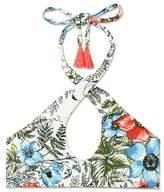 Vince Camuto Floral-print Crisscross Bikini Top