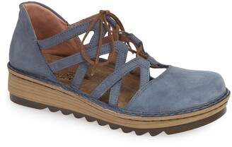 Naot Footwear Calathea Ghillie Laced Wedge