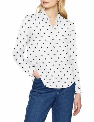 Seidensticker Women's Hemdbluse Langarm Modern Fit Gepunktet Blouse