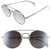 Tommy Hilfiger Women's 53Mm Round Sunglasses - Dark Ruthenium