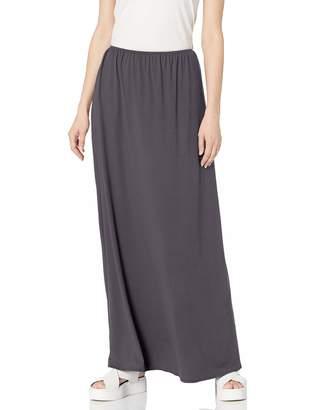 Star Vixen Women's Petite Modest Soft DTY Knit Pull-On Maxiskirt