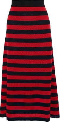 Sonia Rykiel Striped Open-knit Wool-blend Maxi Skirt