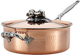 Ruffoni Opus Cupra Hammered Copper & Stainless Steel Covered Saute Pan
