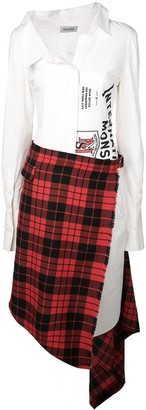 Monse patchwork asymmetric shirt dress