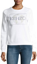 Kenzo Global Crewneck Long-Sleeve Pullover Sweatshirt