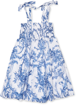 Halabaloo Print Smocked Dress