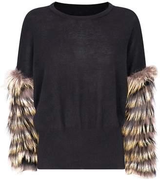 Izaak Azanei Wool-Cashmere Fox Fur Sweater
