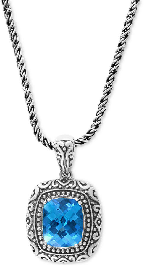 Effy Balissima by Blue Topaz (6-2/3 ct. t.w.) Pendant Necklace in Sterling Silver
