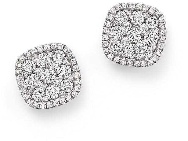 Bloomingdale's Diamond Cluster Earrings in 14K White Gold, 1.0 ct. t.w.