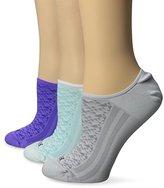 Hue Women's Air Sleek Liner Athletic Socks (Pack of 3)
