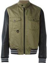 Just Cavalli leather sleeves jacket