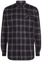 Givenchy Zip Pocket Check Shirt