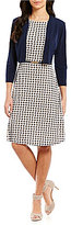 Jessica Howard Belted Printed 2-Piece Jacket Dress