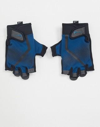 Nike Training mens fitness gloves in blue
