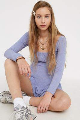 Urban Outfitters Brittany Sparkle Playsuit - black XS at