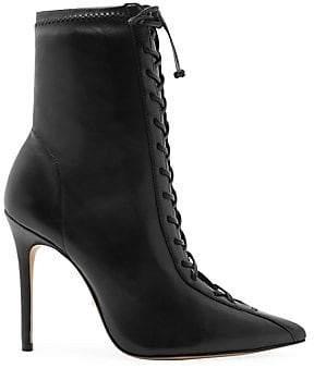 Schutz Tennie Lace-Up Leather Boots