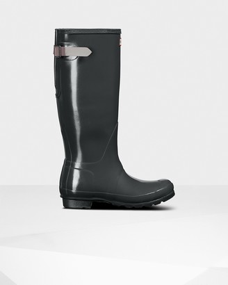 Hunter Women's Original Tall Back Adjustable Gloss Wellington Boots