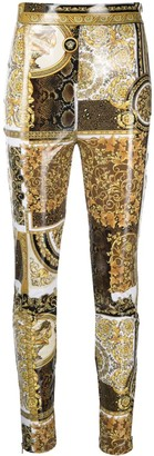 Versace Barocco-print skinny trousers