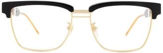 Gucci Half-Rim Square Frame Glasses