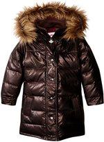 Appaman Long Down Coat (Toddler/Kid) - Black Copper - 3T