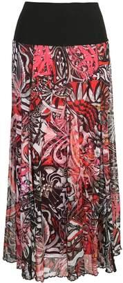 Fuzzi printed skirt