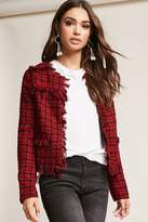 Forever 21 Fringed Houndstooth Boucle Jacket