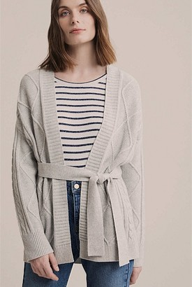 Witchery Cable Belted Cardigan