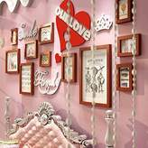 Fruit dimension - Home Famous Wall Stickers Wooden heart shaped photo frame photo wall living room bedroom combination wedding photo wall hanging ideas , -YS
