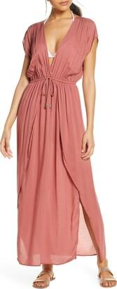 Elan International Deep V-Neck Cover-Up Maxi Dress