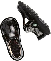 Kickers Girls Kick Patent T-bar School Shoes - Black