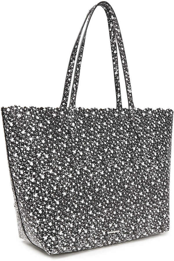 Thumbnail for your product : Rebecca Minkoff Laser-cut Studded Leather Tote