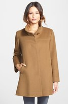 Fleurette Women's Wool Stand Collar Car Coat