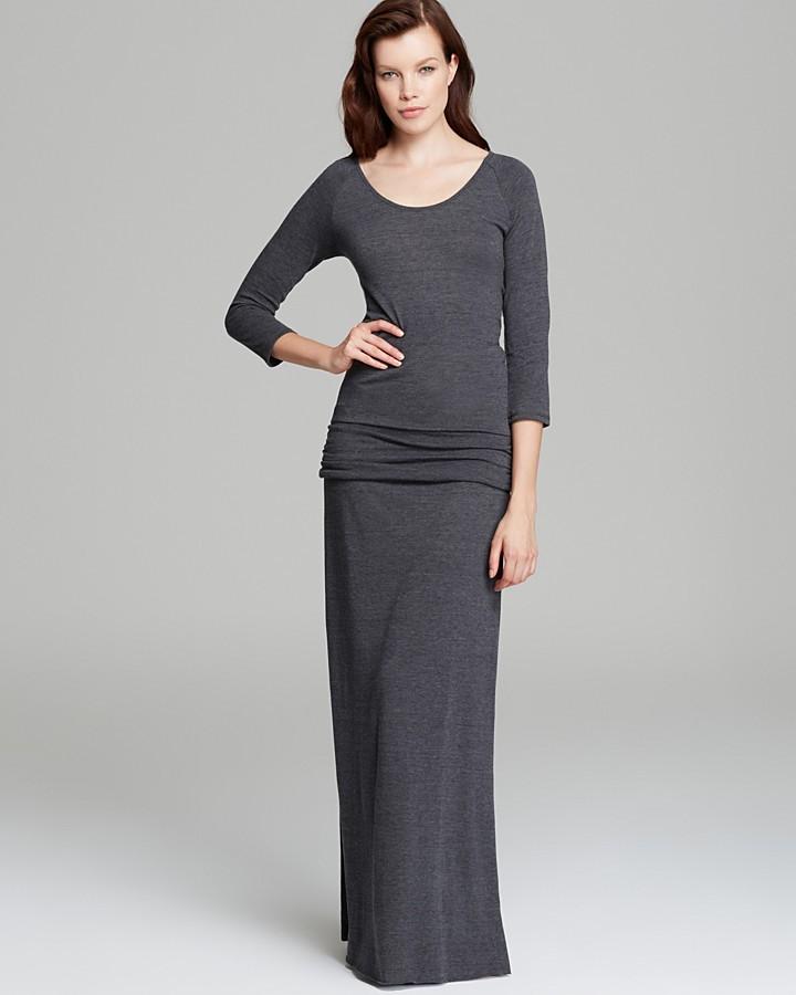 Alternative Apparel ALTERNATIVE Maxi Dress - Nickel Slit