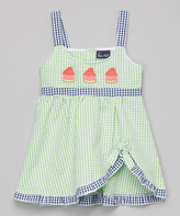 Sweet & Soft Green Seersucker Cupcake Dress - Kids