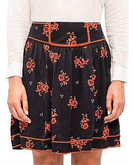 Scotch & Soda Skirt With Embroidery In Solid And Print