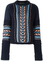 Versace oversize stitch knit sweater - women - Wool/Viscose/Polyamide/Nylon - 42