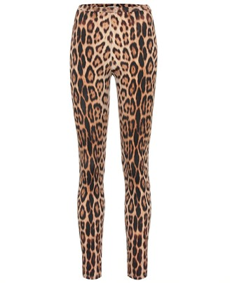 Roberto Cavalli Leopard-print leggings